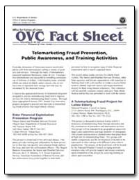 Telemarketing Fraud Prevention, Public A... by Government Printing Office