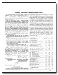 Federal Emergency Management Agency by Government Printing Office