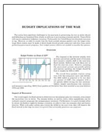 Budget Implications of the War by Government Printing Office
