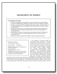 Department of Energy by Government Printing Office