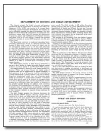 Department of Housing and Urban Developm... by Government Printing Office