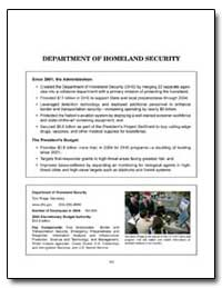 Department of Homeland Security by Government Printing Office
