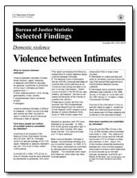 Violence between Intimates by Government Printing Office