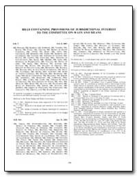 Bills Containing Provisions of Jurisdict... by Government Printing Office