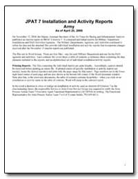 Jpat 7 Installation and Activity Reports... by Department of Defense