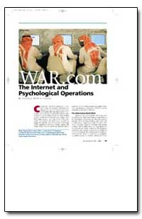 War.Com the Internet and Psychological O... by Lungu, Angela Maria