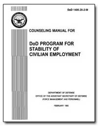 Counseling Manual for Dod Program for St... by Department of Defense