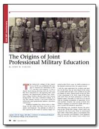 The Origins of Joint Professional Milita... by Yaeger, John W.