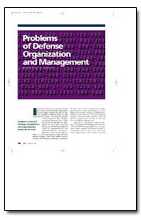 Problems of Defense Organization and Man... by Donley, Michael B.