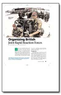 Organizing British Joint Rapid Reaction ... by Connaughton, Richard M.