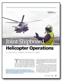 Joint Shipboard Helicopter Operations by Lambert, Geoffrey C.