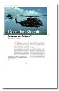 Operation Kingpin: Success or Failure by Thomas, William C.