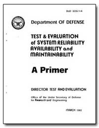 Test and Evaluation of System Reliabilit... by Conlon, John C., Dr.