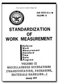 Standardization of Work Measurement by Department of Defense