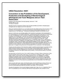 Unga Resolution: 5461 Convention on the ... by Department of Defense
