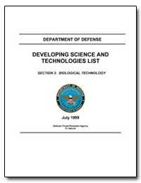 Section 3: Biological Technology by Department of Defense