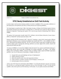 Dtic Newly Established as Dod Field Acti... by Department of Defense