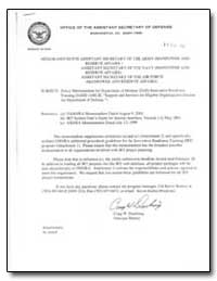 Policy Memorandum for Department of Defe... by Department of Defense