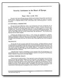 Security Assistance in the Heart of Euro... by Lovell, Allen, Major