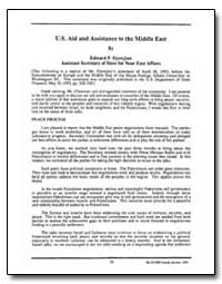 Aid and Assistance to the Middle East by Djerejian, Edward P.