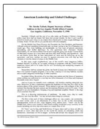American Leadership and Global Challenge... by Talbott, Strobe