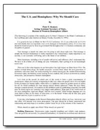 The U.S. And Hemisphere: Why We Should C... by Romero, Peter F., Ambassador