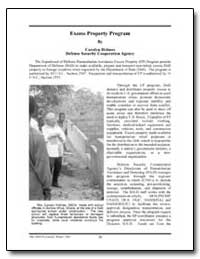 Excess Property Program by Holmes, Carolyn