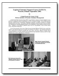 Logistics Customer Support Course (Sam-C... by Currie, Karen W., Lieutenant Colonel