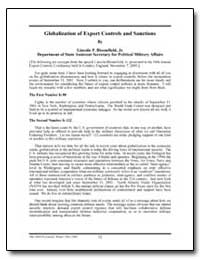 Globalization of Export Controls and San... by Bloomfield, Lincoln P.