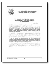 U.S. Passports Will No Longer Beissue Ab... by Department of Defense