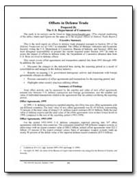 Offsets in Defense Trade by Department of Defense