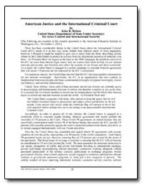 American Justice and the International C... by Bolton, John R.