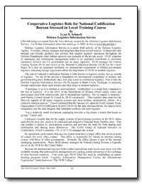 Cooperative Logistics Role for National ... by Schmoll, Lynn B.
