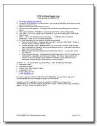 Dtics Online Registration by Department of Defense