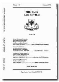 Military Law Review by Department of Defense