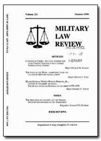 Military Law Review by Wells, John B., Captain