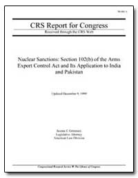 Nuclear Sanctions: Section 102 (B) of th... by Grimmett, Jeanne J.