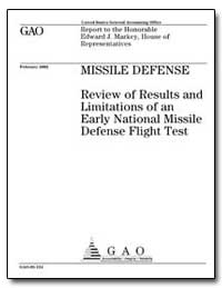 Missile Defense Review of Results and Li... by Department of Defense