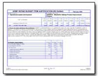 Army Rdt&E Budget Item Justification (R2... by Department of Defense