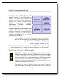 Force Management Risk by Rumsfeld, Donald H.