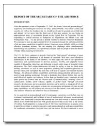Report of the Secretary of the Air Force by Department of Defense