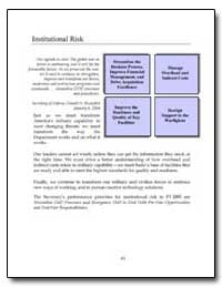 Institutional Risk by Rumsfeld, Donald H.