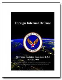 Air Force Doctrine Document 2-X. X Date ... by Macghee, David F.
