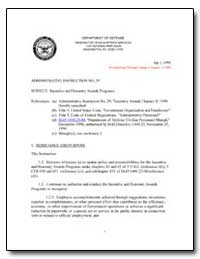 Incentive and Honorary Awards Programs by Department of Defense