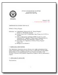 Privacy Program by Department of Defense