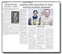 Coping with Separation in Iraq, Staying ... by Department of Defense