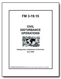 Fm 3-19. 15 Civil Disturbance Operations by Department of Defense