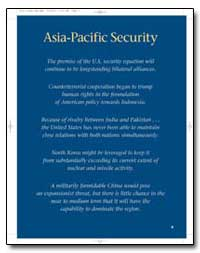 Asia-Pacific Security by Department of Defense