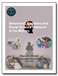 Behavioral, Cognitive and Social Science... by Department of Defense