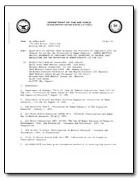 Department of Defense (Dod) Guidance for... by Merritt, Gerald J.